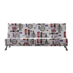 Sofá cama moderno, tapizado: london