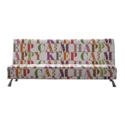Sofá cama moderno, tapizado: happy