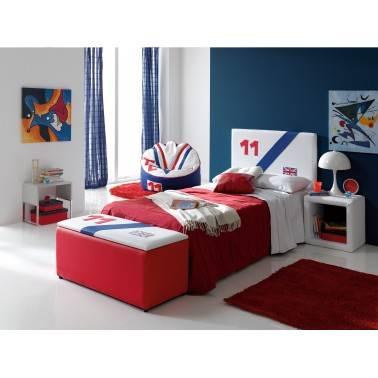 Cabezal juvenil moderno, tapizado: Reino Unido