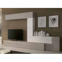 Composición de salón minimalista, color: blanco - visón