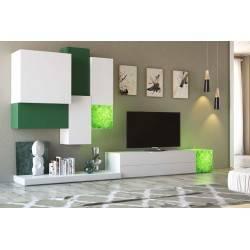 Composición de salón minimalista, color: blanco - verde