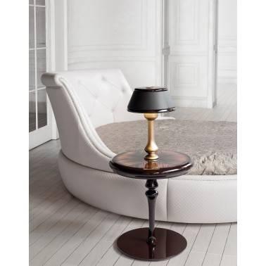 Mesa de rincón clásica, color: chocolate