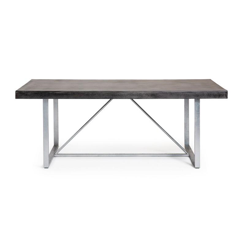 Pack oferta mesa comedor 2 bancos exterior color gris for Mesa comedor exterior