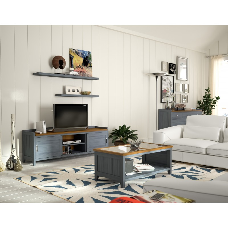 Mueble tv verona color azul mar tabaco muambi for Muebles verona
