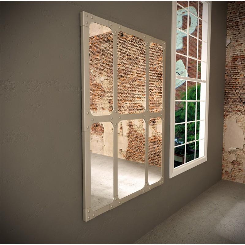 espejo industrial 110x150 dise o cuadros color titanio
