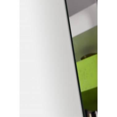 Recibidor moderno con marco espejo, color: blanco - verde