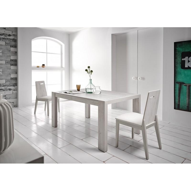 Mesa de comedor moderna extensible acabado texturizado for Mesas comedor extensibles modernas