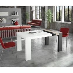Mesa de comedor moderna extensible, color: blanco - masintex