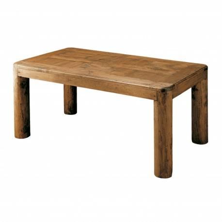 Mesa de comedor rústica, acabado: teñido y encerado | Muambi